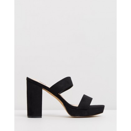 Denver Mules Black Microsuede by Dazie