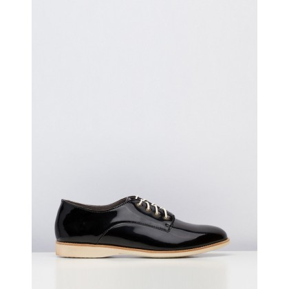 Derby Shoes Black Patent by Rollie