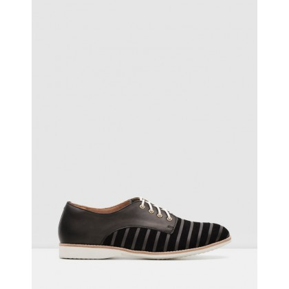 Derby Shoes Black Lines/Black by Rollie