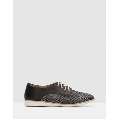 Derby Shoes Prince of Wales/Black by Rollie