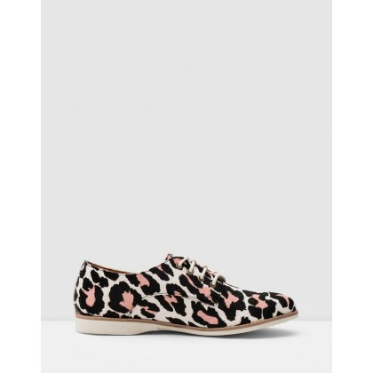 Derby Shoes Off White & Pink Leopard by Rollie