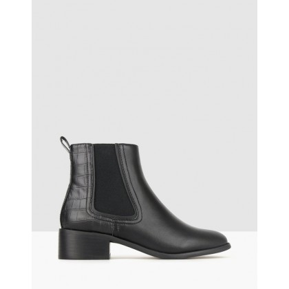Destiny Block Heel Chelsea Boots Black by Betts