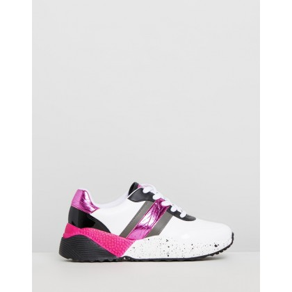 Devin Sneakers White, Pink and Black by Vizzano