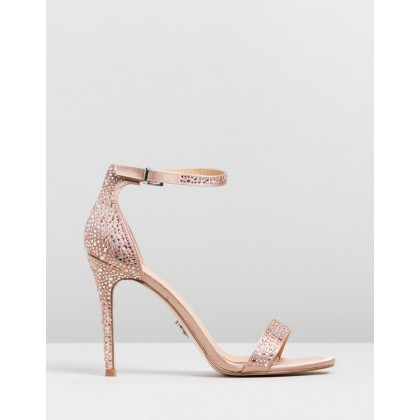 Diamante Barely There Sandals Nude by Lipsy