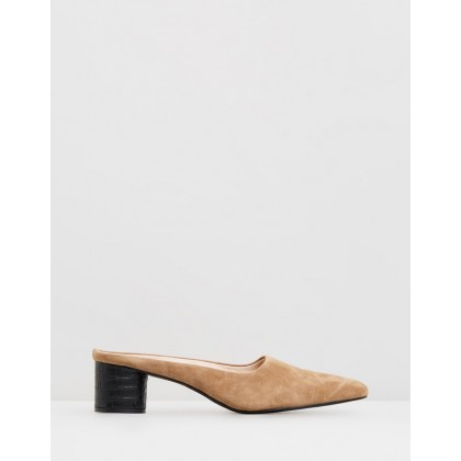 Diana Mules Tobacco Suede by Sol Sana