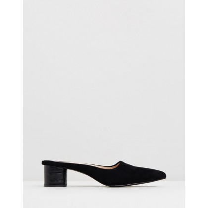 Diana Mules Black Suede by Sol Sana