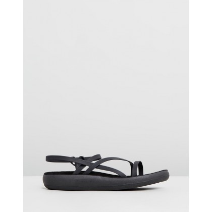 Dimitra Comfort Black by Ancient Greek Sandals