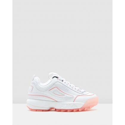 Disruptor II Ice - Women's White/Peony by Fila