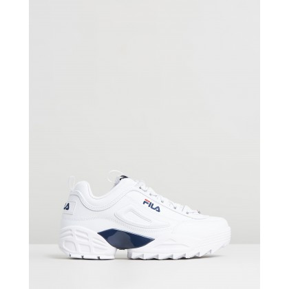 Disruptor II LAB - Men's White, Fila Navy & Fila Red by Fila