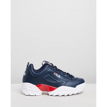Disruptor II LAB - Men's Fila Navy, White & Fila Red by Fila