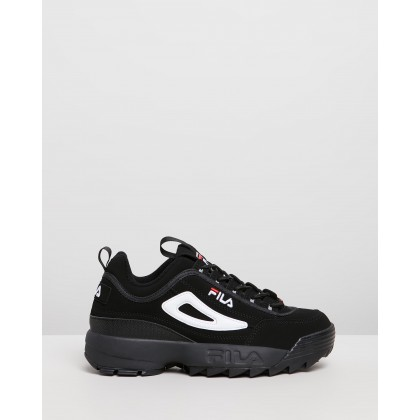 Disruptor II - Women's Black, White & Red by Fila