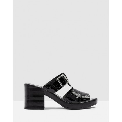 Dixie Buckle Mules Black by Topshop