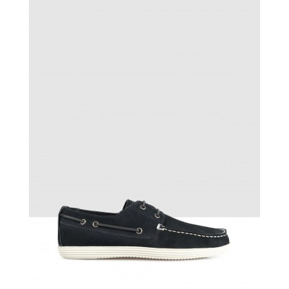 Dixon Boat Shoes Navy by Brando