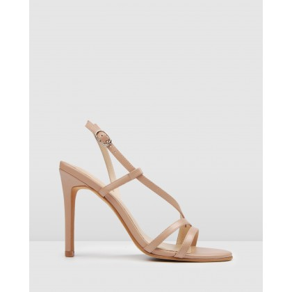 Donna High Heels Blush Leather by Jo Mercer