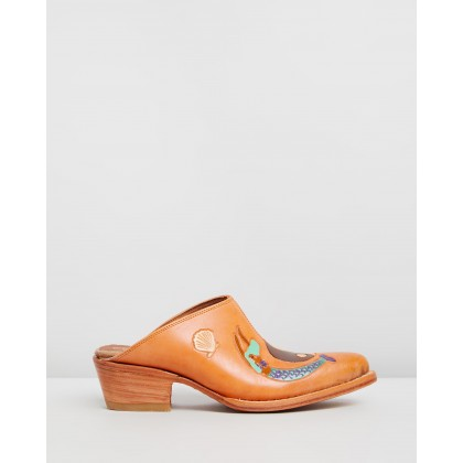 Doodle Mules Tan by Brother Vellies