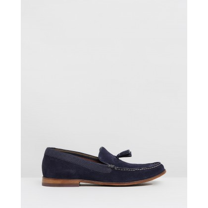 Dougge 2 Loafers Dark Blue Suede by Ted Baker