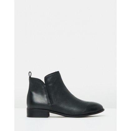 Douglas Leather Boots Black by Walnut Melbourne