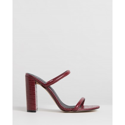 Dovena Heels Burgundy Croc by Spurr