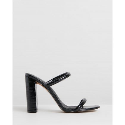 Dovena Heels Black Croc by Spurr