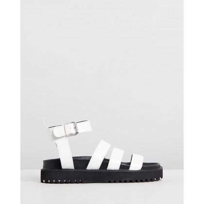 Drew Sandals White Box Smooth by Dazie