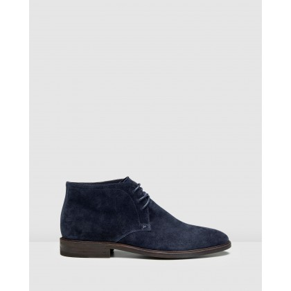 Drummond Desert Boots Navy by Aquila