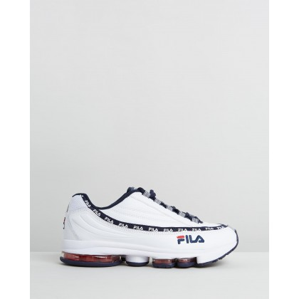 DSTR97 - Women's White, Fila Navy & Fila Red by Fila
