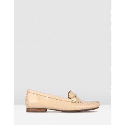Dublin Gold Trim Loafers Nude by Airflex