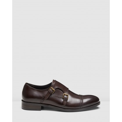 Dublin Monk Straps Brown by Aq By Aquila