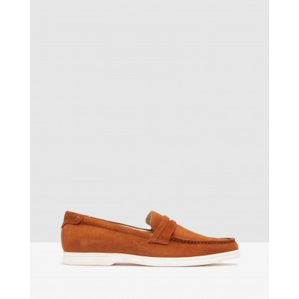 Duke Suede Loafers Tobacco by Oxford