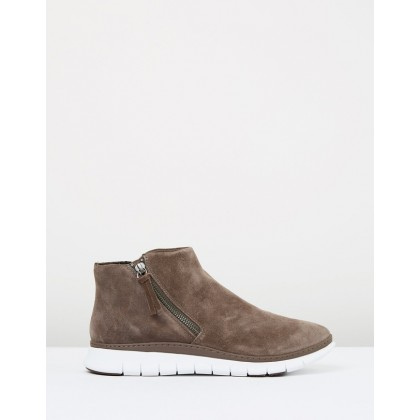 Dylan High Top Sneakers Dark Taupe by Vionic