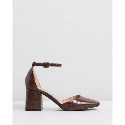 Earnest Heels Brown Croc by Spurr