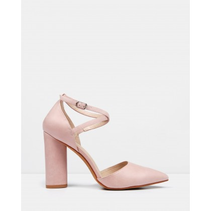 Eastbound Dress High Heels Soft Pink Leather by Jo Mercer