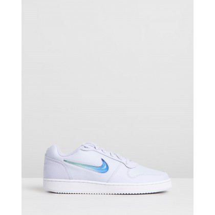 Ebernon Low Premium - Women's Oxygen, Teal & Tinted Sapphire by Nike