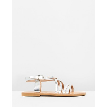 Echo Sandals Silver by Ammos