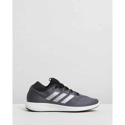 Edge Flex - Women's Grey Six, Tech Silver Metal & Core Black by Adidas Performance