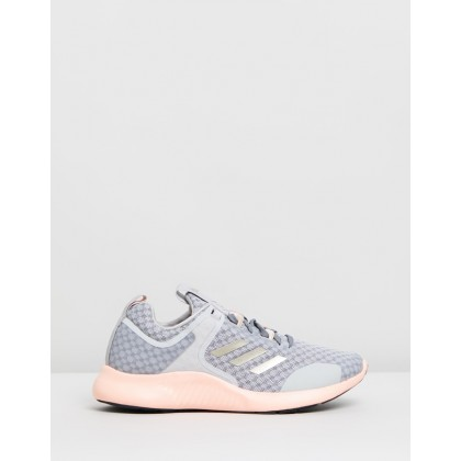 Edgebounce - Women's Grey Two, Cyber Met & Glow Pink by Adidas Performance