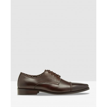Eduoard Leather Oxford Shoes Dark Brown by Oxford