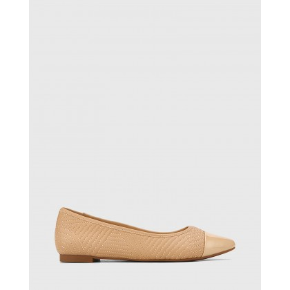 Egan Leather Slip On Flats Nude by Wittner