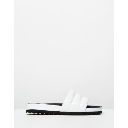 Elaine Slides White by Camilla And Marc