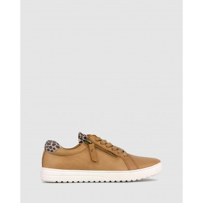 Elated Leather Lifestyle Sneakers Camel by Airflex
