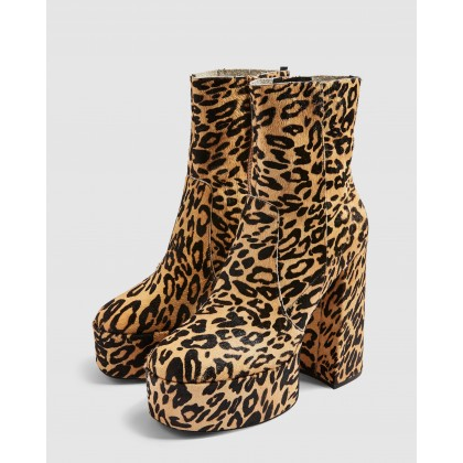 Electric Platform Boots Leopard by Topshop
