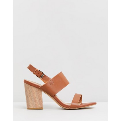 Elina Heels Tan & Wood by Spurr
