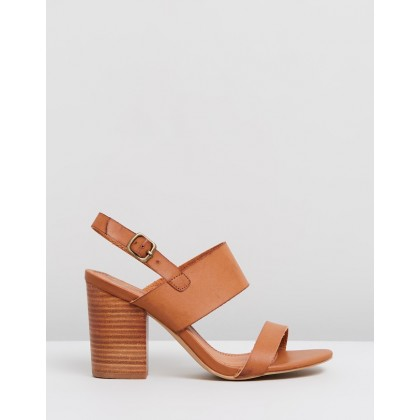 Elise Block Heels Tan by Spurr