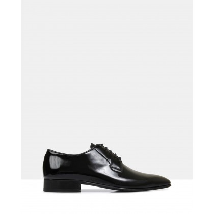 Ellis Brando Lace Up Patent Black by Brando