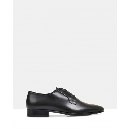 Ellis Leather Derby Shoes Black by Brando