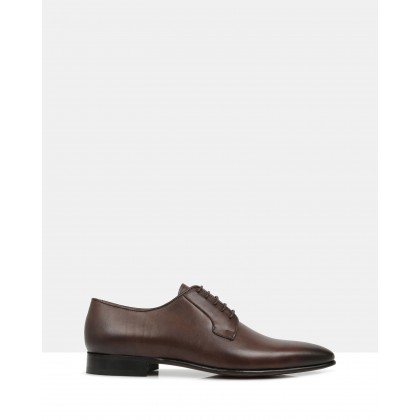 Ellis Leather Derby Shoes Brown by Brando