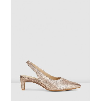 Ellis Ruby Rose Gold Leather by Clarks