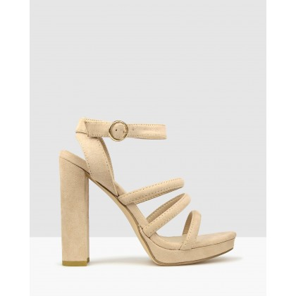 Emma Platform Heeled Sandals Nude by Betts