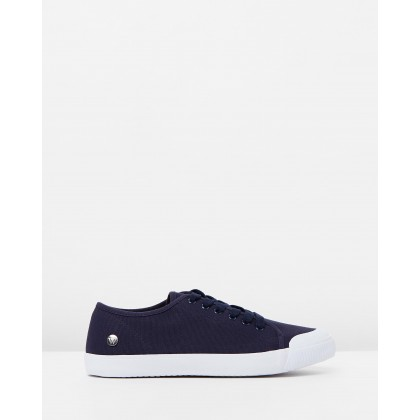 Empire Canvas Sneakers Navy by Walnut Melbourne
