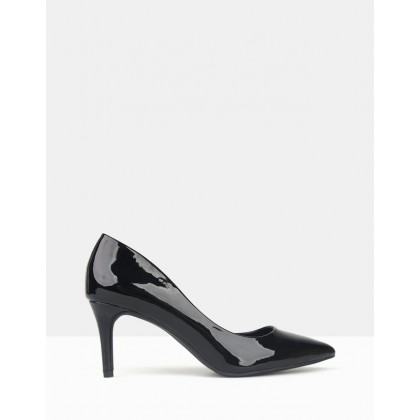 Empower Pointed Toe Pumps Black Patent by Betts